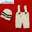 Baby-crochet-knitted-white-coffee-hat-suspender-picture-baby-outfits-3