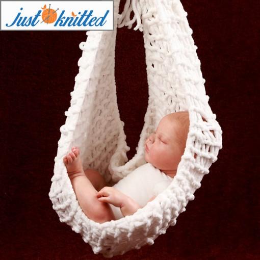 Crochet Baby White Hammock