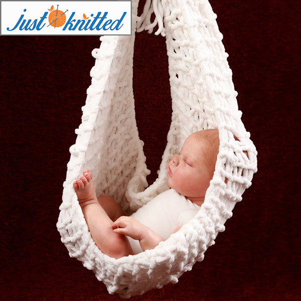 Knitted Crochet White Hammock Just Knitted