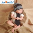 Crochet-gentlemen-outfit-baby-boys-hat-and-tie-knitted-cute-gray-caps-3