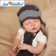 Crochet-gentlemen-outfit-baby-boys-hat-and-tie-knitted-cute-gray-caps-4