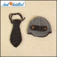 Crochet-gentlemen-outfit-baby-boys-hat-and-tie-knitted-cute-gray-caps-5
