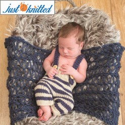 blue stripe knitted babywear