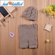Newborn 0-3 months baby khaki twisted beanies pants costume