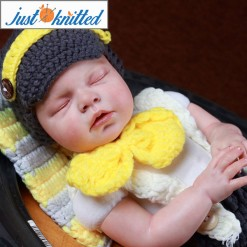 baby knitted dungarees