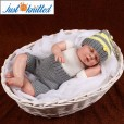 Newborn-twins-boys-and-girl-crochet-outfits-grey-2