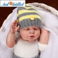 Newborn-twins-boys-and-girl-crochet-outfits-grey-3
