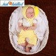 Newborn-twins-boys-and-girl-crochet-outfits-yellow