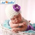 babies-purple-floral-hat-pants-hand-knitted-2