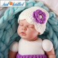 babies-purple-floral-hat-pants-hand-knitted-4