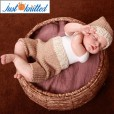 baby khaki cotton outfit