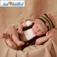 2 color stripe baby outfit