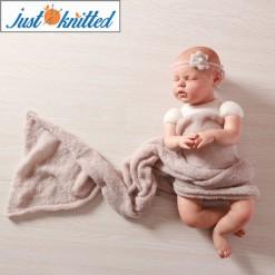 mohair newborn stretch wrap and handmade flower