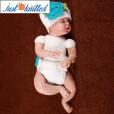 newborn-baby-girl-crochet-knit-blue-flower-beanies-diaper-2