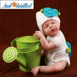 newborn baby girl crochet knit blue flower beanies diaper