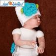 newborn-baby-girl-crochet-knit-blue-flower-beanies-diaper-4