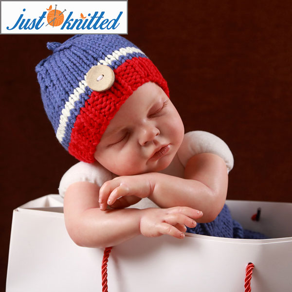 ce52f0f9c80 Knitted Pants and Button Beanie Set - Just Knitted